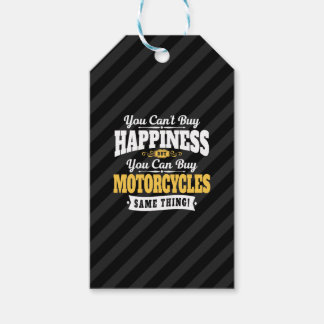 Motorcyclist Cant Buy Happiness Can Buy Motorcycle Pack Of Gift Tags