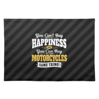 Motorcyclist Cant Buy Happiness Can Buy Motorcycle Placemat