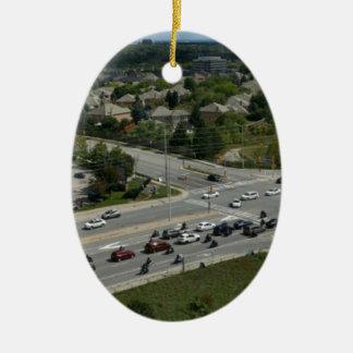 Motorcyle Ride Ceramic Oval Ornament