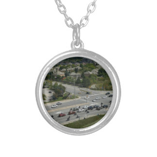 Motorcyle Ride Silver Plated Necklace