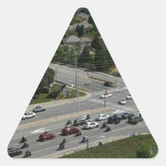 Motorcyle Ride Triangle Sticker