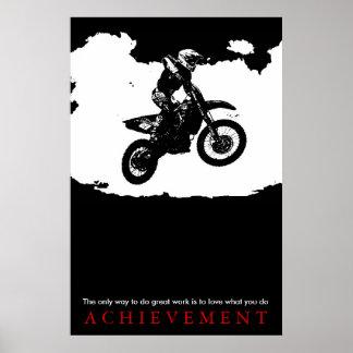 Motorcyle Sport Achievement Quote Motivational Poster