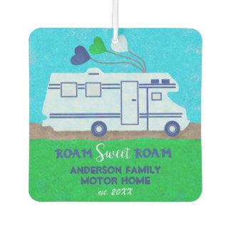 Motorhome RV Camper Travel | Add Family Name V2 Air Freshener