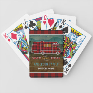 Motorhome RV Camper Travel Van Rustic Personalized Bicycle Playing Cards