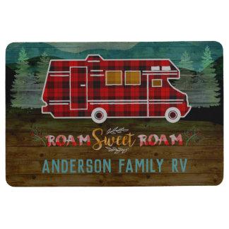 Motorhome RV Camper Travel Van Rustic Personalized Floor Mat