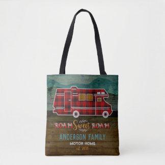 Motorhome RV Camper Travel Van Rustic Personalized Tote Bag