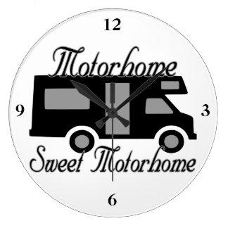 Motorhome Sweet Motorhome RV Large Clock