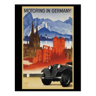 Motoring In Germany Postcard