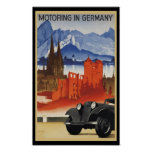 Motoring In Germany Poster