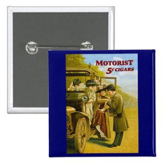 Motorist Cigars Advertisement - Vintage Button