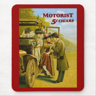 Motorist Cigars Advertisement - Vintage Mouse Pad