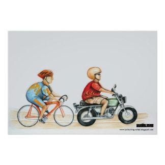 motorpacing @ the velodrome poster
