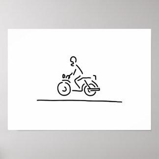 motorradfahrer motorcycle road poster