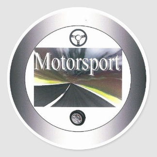 Motorsport - sticker round