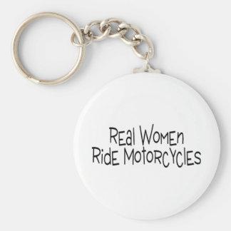 Motos de tour de vraies femmes porte-clé