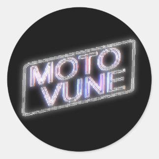 MOTOVUNE shiny Classic Round Sticker