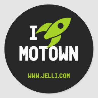 Motown Rocket Sticker