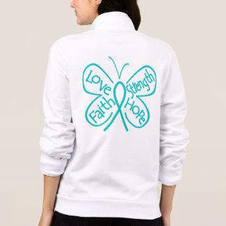 Mots de inspiration de papillon de sclérodermie veste
