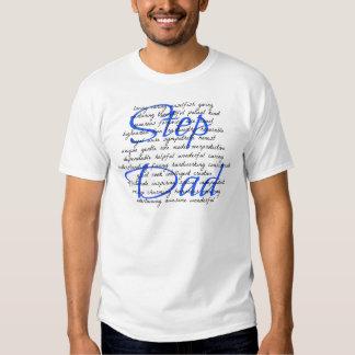 Mots pour un papa d'étape tshirts