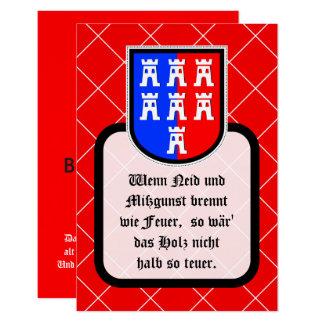 Mots sages de Saxonian Carton D'invitation 8,89 Cm X 12,70 Cm