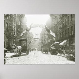 Mott Street Religious Festival, 1908 Poster