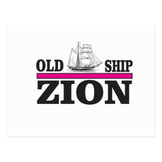 motto of the ship postcard