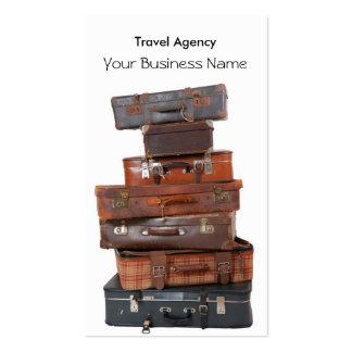 Mouche de bagage d'agence de voyages carte de visite standard