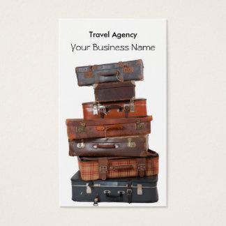 Mouche de bagage d'agence de voyages cartes de visite
