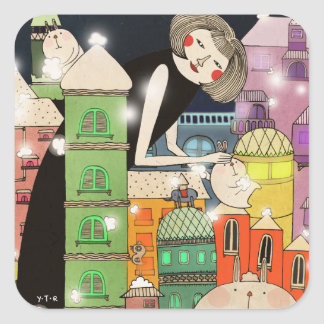 Mouldy city 2013 square sticker