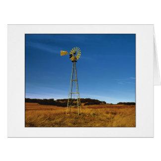"""""""Moulin à vent de plateau de Santa Rosa """" Carte De Vœux Grand Format"""