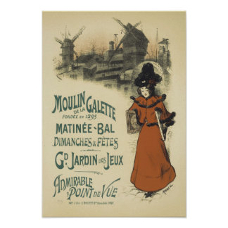 Moulin de la Galette, Roedel Poster