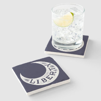 Moultrie Liberty Flag Stone Coaster
