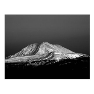 Mount Adams Snowy Peak in Monochrome Postcard