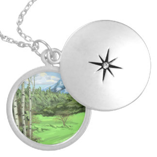 Mount Adjo Silver Plated Necklace
