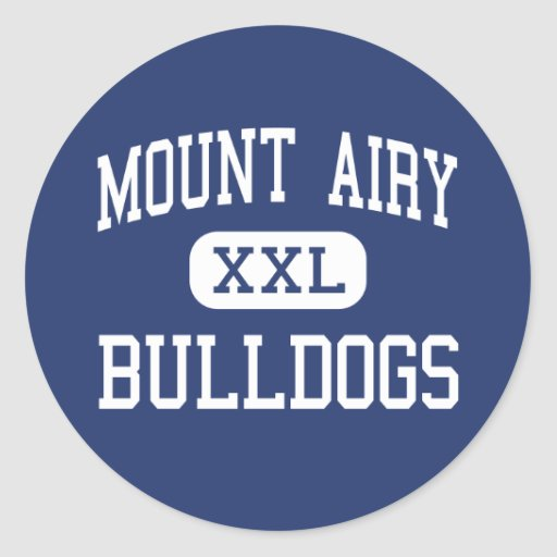 Mount Airy Bulldogs Middle Mount Airy Round Stickers