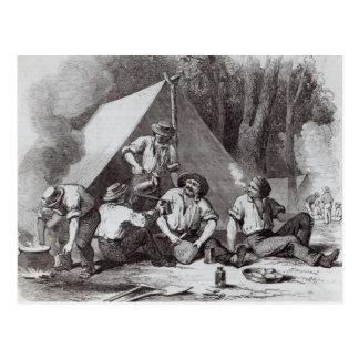 Mount Alexander gold-diggers at evening mess Postcard