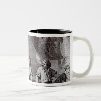 Mount Alexander gold-diggers at evening mess Two-Tone Coffee Mug