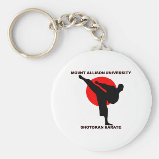 Mount Allison University Shotokan Karate Basic Round Button Keychain