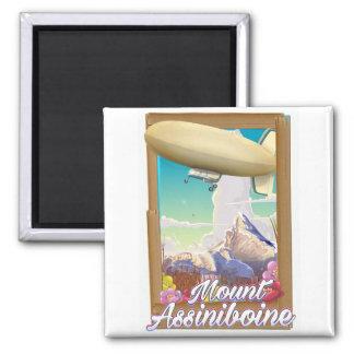Mount Assiniboine Blimp vacation poster Magnet
