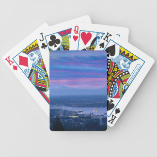 Mount Baker and Vancouver BC at Dawn Canada Bicycle Playing Cards