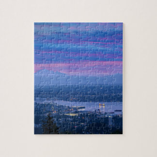 Mount Baker and Vancouver BC at Dawn Canada Jigsaw Puzzle