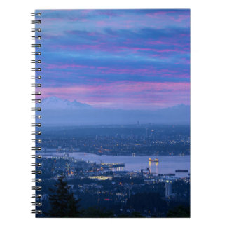 Mount Baker and Vancouver BC at Dawn Canada Notebook