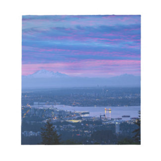 Mount Baker and Vancouver BC at Dawn Canada Notepad