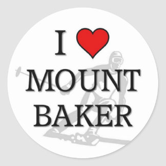 Mount Baker Classic Round Sticker