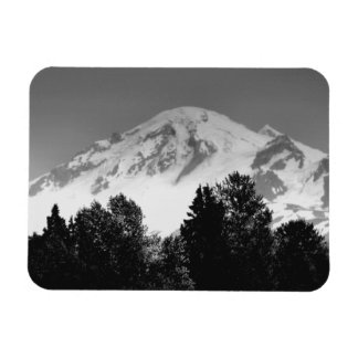 Mount Baker Through Trees Rectangular Photo Magnet