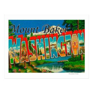 Mount Baker, Washington - Large Letter Scenes Postcard