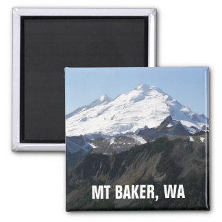 Mount Baker, Washington Photo Square Magnet