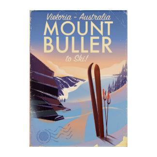 Mount Buller Australia vintage Ski poster Acrylic Wall Art