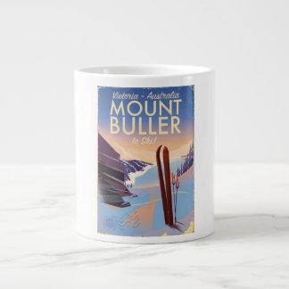 Mount Buller Australia vintage Ski poster Large Coffee Mug