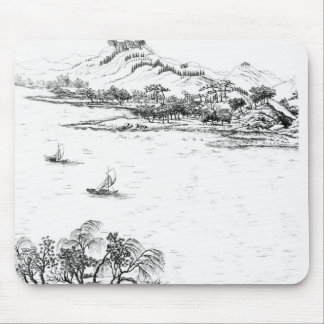 Mount Chang and Lake Chou, from 'Jardins Anglo-Chi Mouse Pad